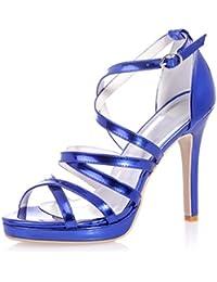L YC Chaussures De Mariage Pour Femmes Crystal Talons De La Plate-Forme S-2615-14 Rugueuse Et SoiréE Et Chaussures Professionnelles De Grande Taille Faites Sur Mesure, black, 39