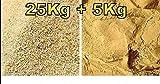 TERRAIENSAND Set 25kg Quarzsand Körnung -0,4 - 0,8 mm Terrariensand + 5kg Lehm Doubleyou Geovlies & Baustoffe®