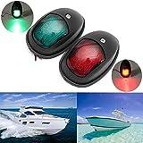 Providethebest 2pcs / Set LED-Navigation Boot Seitliche Lichter Schwarz Gehäuse-Anschluss Steuerbord Links rechts Boot Schiff Lampen Glühlampen