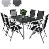 Miadomodo – Conjunto de muebles para jardín de aluminio (6 ...