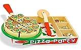 Janod Melissa & Doug - Holzspielzeug, Schneidespielzeug Pizza - Set, 33x24x4cm, Mehrfarbig