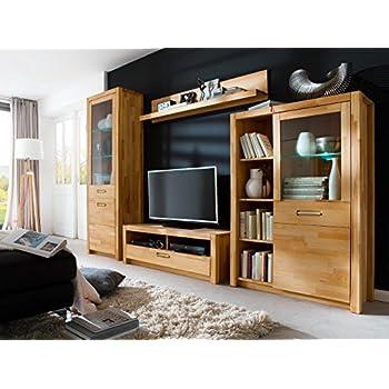 Wohnwand Wohnzimmerschrank Anbauwand Schrankwand Fernsehwand Wohnzimmerschrankwand Wohnschrank Kernbuche
