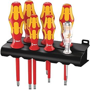 Wiha Schraubendreher SoftFinish/® electric Pozidriv 00879 PZ2 x 100 mm  VDE gepr/üft ergonomischer Griff f/ür kraftvolles Drehen Allrounder f/ür Elektriker st/ückgepr/üft