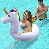 Flotador Inflable para Piscina de Unicornio - Beby 2017 Verano Nuevo Diseño Seguro Material Clásico Anillo de Natación para Adultos Mujeres Niños Niños (Pequeño unicornio)