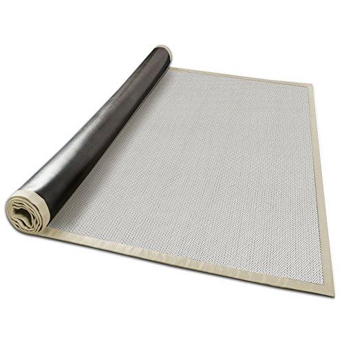 casa pura Outdoor-Teppich mit Bordüre | ideal für Terrasse, Balkon, Garten, Küche, Flur | aus Kunststoff wetterfest und rutschsicher | Viele...