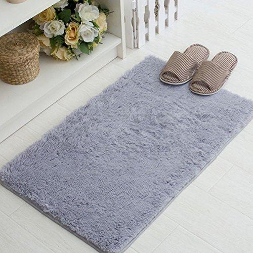 bluelover-40x60cm-pleuche-bedroom-antiscivolo-tappeto-assorbente-antipolvere-peluche-bath-mat-grigio