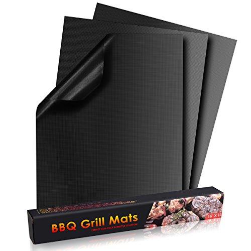 POAO Grill Matte Non Stick BBQ Grill Mat Set 3, FDA zugelassen, wiederverwendbar und leicht zu reinigen - Gas-und Holzkohle-grills