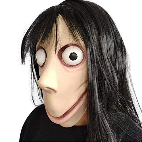 Scary MoMo Kostüm Maske Death Game mit langem Haar Halloween-Kostümparty von AILHL (Scary Halloween-spiele Hause Zu Spielen Zu)
