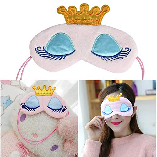 Jkhhi Nützliche Krone Ice Eye Maske Shade Cover Rest Augenklappe Augenbinde Schild für Den Schlaf Lange Wimpern Cartoon Baumwolle Schattierung Augenmaske