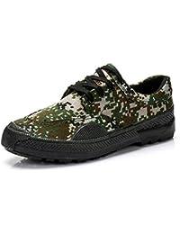 YORWOR Unisex Zapatillas de senderismo trabajo Trekking militares camuflan zapatos de encaje