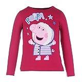 Peppa Pig Ragazze Maglione, Rosso, Taglia 116, 6 Anni