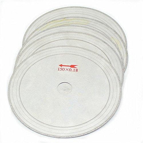 DyNamic 10Pcs 6 Zoll 0,43Mm Super-Thin Diamond Lapidary Sägeblätter 150Mmx20Mm Gems Cutting Disc