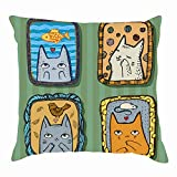 dfgi Cute Cats Dreaming About Love Frames Animals Wildlife Cat Signs Symbols Throw Pillow Covers Cotton Linen Cushion Cover Cases Pillowcases Sofa Home Decor 18'x 18'inch (45 x 45cm)