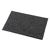 mayshine 50x80 cm Charcoal Grey Non-slip Bath Mat Chenille Bathroom Rug Machine-washable Anti-slip Shower Water Absorbent Soft Microfibers
