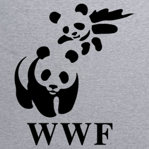 WWF Panda T-Shirt, Herren Grau Meliert