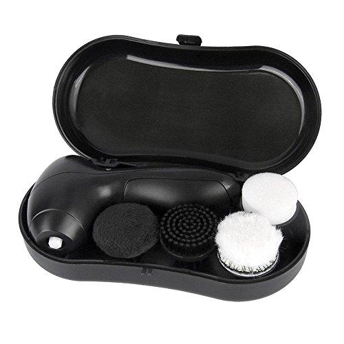 KOBWA Schuhbürste Reinigungsbürste, Batteriebetrieben Schuh-Polierer mit 4 Austauschbare...
