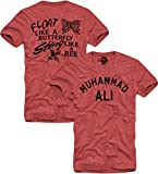 E1SYNDICATE T-SHIRT MUHAMMAD ALI T-SHIRT- Float Like A Butterfly, Boxing Legend Gr. S-XL RED