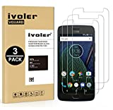 [Lot de 3] Moto G5 Plus Protection écran, iVoler Film Protection d'écran en Verre Trempé Glass Screen Protector Vitre Tempered pour Lenovo / Motorola Moto G5 Plus - Dureté 9H, Ultra-mince 0.30 mm, 2.5D Bords Arrondis- Anti-rayure, Anti-traces de Doigts,Haute-réponse, Haute transparence- Garantie de Remplacement de 18 Mois