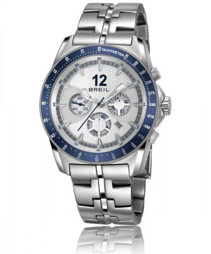 Breil orologio da uomo con cronografo in argento e argento in acciaio INOX TW1138