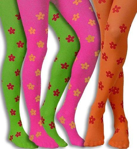 se Flower Blumen Blumenstrumpfhose Universalgröße Erwachsene pink ()