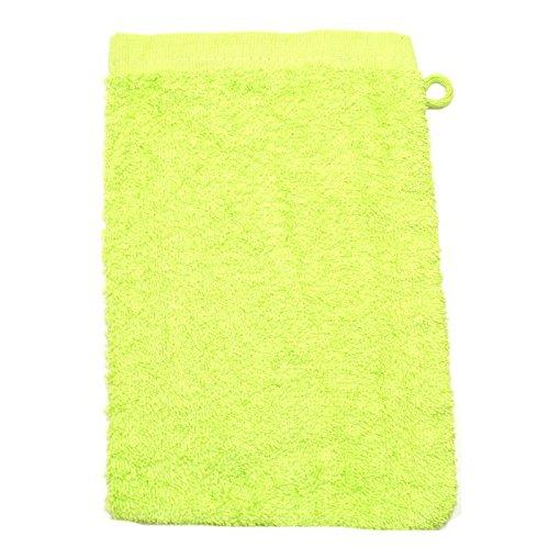 Gant de toilette en éponge vert 500 g/m2 gant de toilette 15 x 21 cm