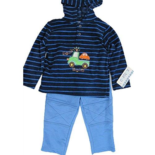 carters-baby-boys-blue-navy-striped-truck-motif-hooded-2-pc-pants-set-18m