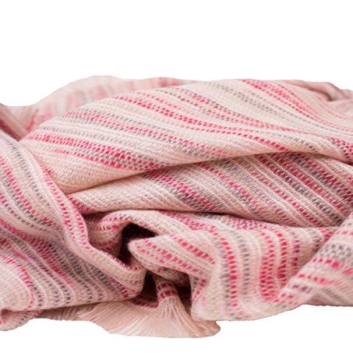 Echarpe femme longue type châle rose- Rose