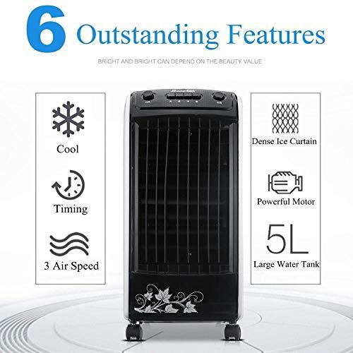 DLLzq Tragbare Klimaanlage Umweltschutz Klimaanlage Fan Timing Tragbar Raumklimageräte Klimaanlage 220 V 65 W 5 L 50 Hz,Remote Control -