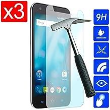 OVIphone 3x Protectores Pantalla PREMIUM Cristal Templado Para ZTE BLADE S6 FLEX (NO COMPATIBLE CON ZTE BLADE S6), Antiroturas y Arañazos con bordes redondeados, Anti huellas, Ultra Fino 0,3mm.