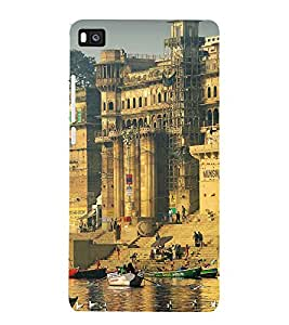 printtech Varanasi Ghats Back Case Cover for Honor P8