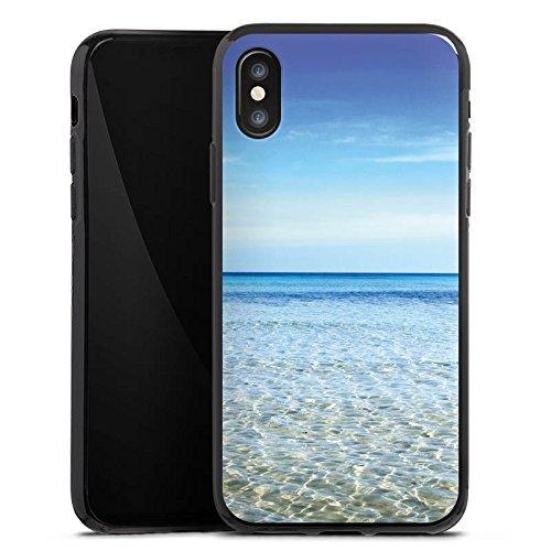 Apple iPhone X Silikon Hülle Case Schutzhülle Horizont Meer Urlaub Silikon Case schwarz