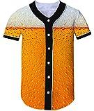 Loveternal Unisex Baseball Jersey de la Cerveza Personalizado 3D Softball de la Camisa M