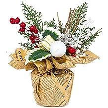 Decoración del árbol de Navidad, Navidad creativa en maceta adornos pequeña bolsa de regalo cono