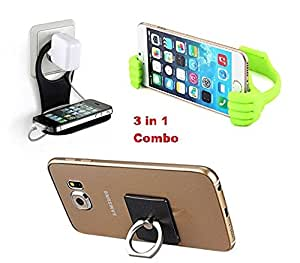 DAD Mobile Accessories COMBO PACK | Charging Stand + Ok Stand + Mobile Ring Holder |For Huawei Mate 9
