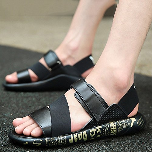 ZHANGRONG- Mens PU Vamp Velcro Straps Sandale ( Couleur : B , taille : 42 ) B