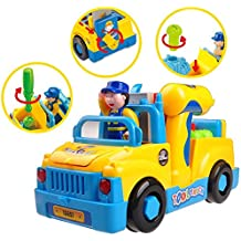 """Il Camion Smontabile Musicale con funzione """"Bump & Go"""" con Luci TG657 – Giocattolo Smontabile da Ricostruire per bambini e bambine di età compresa fra i 3 ei 6 anni – Include Suoni e Trapano elettrico creato da ThinkGizmos (marchio protetto)"""