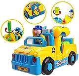 Auseinandernehmbarer Bump and Go LKW mit Lichtern TG657 - Lustiges Spielzeug-Baufahrzeug für Kleinkinder (Jungen und Mädchen) im Alter von 3, 4, 5, 6 Jahren mit Geräuschen und elektrischem