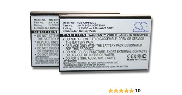 2 X Vhbw Battery Set 950mah For Cordless Landline Phone Elektronik