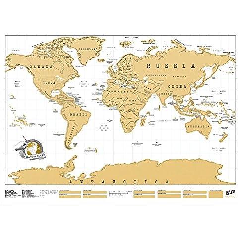 Luckies Scratch Map, Mappa Multicolore da grattare