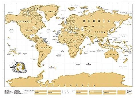 La Maison Et Le Monde - Luckies of London USLUSCR Scratch Map Carte