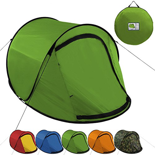 Pop-Up Zelt JUMP SUITE für 2 Personen von BB Sport Wassersäule 3000, Farbe:grün