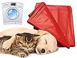 Cuscino per cani e gatti per incontinenza 180x 260cm rosso lavabile a 95°c