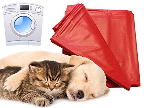 Unterlage für Hunde und Katzen 180x260cm waschmaschinenfest bis 95° rot flexibel