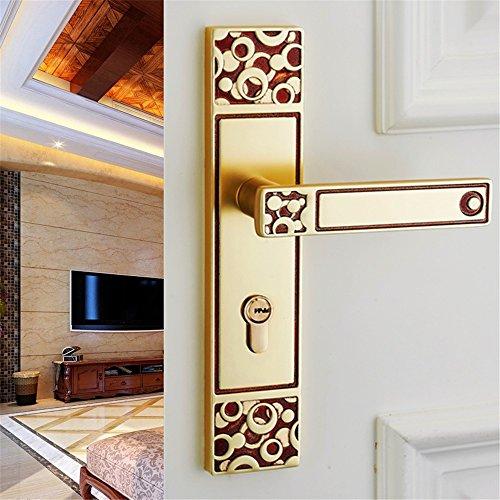 GaoHX LOCK~ European-style Innentürschlösser Schlafzimmer Türschloss Holztürgriff Verriegelt Das Badezimmer