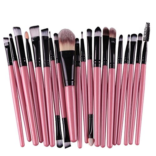 Susenstone 20pcs / set Maquillage Brush Set Outils Make-up Kit Toiletry La laine Make Up Brush Set