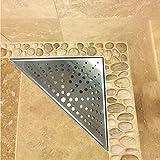 Luxus Duschrinne für Wand dreieckig 20x20cm Bodenablauf mit Geruchsstop – RL15