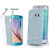 Ultra Thin Transparent TPU Gel Schutzhülle Samsung Galaxy S7s7edge S6s6edge S5J3J5A3, Blue(Bling Glitter Back), Samsung Galaxy J5