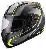 Integralhelm Helm Motorradhelm RALLOX 708 neon gelb grün schwarz matt