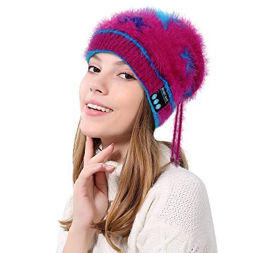 Vovotrade ✉ ms. bluetooth knit cap, cappellino cuffia con cappuccio bluetooth senza fili invernale con cinturino