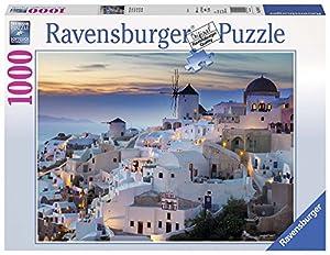 Ravensburger-19611 1 Puzzle 1000 Piezas Santorini, Multicolor, Talla Única (196111)